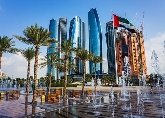 De metropool in Abu Dhabi