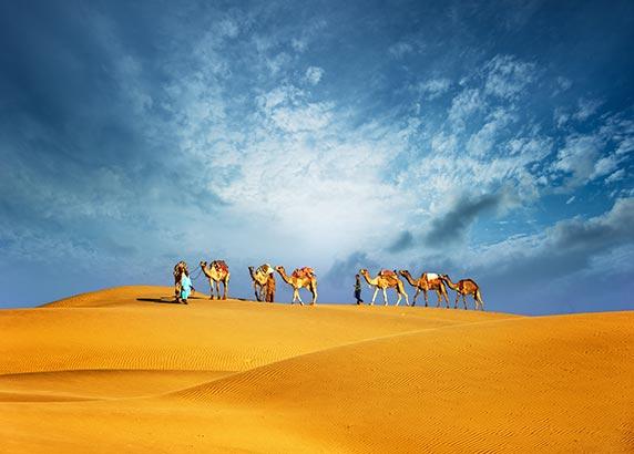 De indrukwekkende woestijn van Dubai