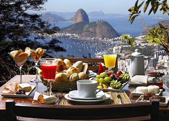 Dineren met een prachtig uitzicht