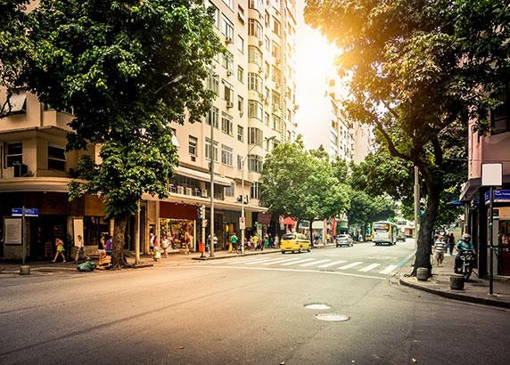 Winkelen in de straten van Rio de Janeiro