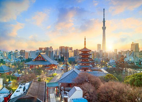 De prachtige hoofdstad van Japan