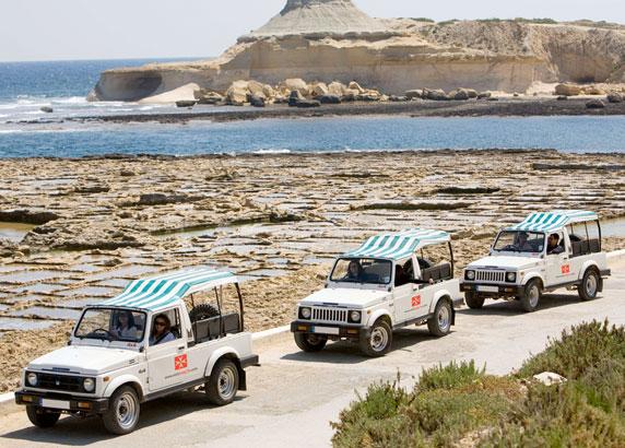 De Jeep Safari op Gozo eiland