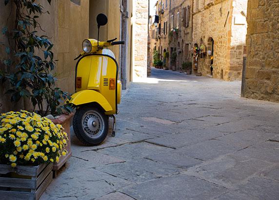 Het typische Italiaanse vervoersmiddel, de Vespa!