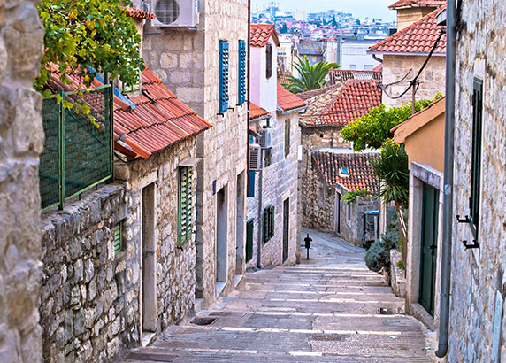 De prachtige straatjes van Split