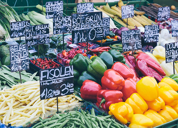 De beroemde Naschmarkt van Wenen