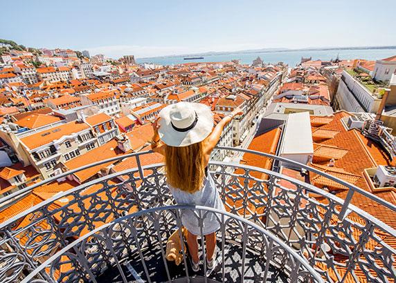 Uitzicht over Baixa