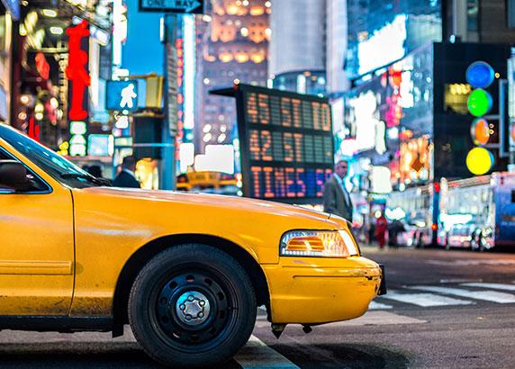De indrukwekkende Times Square