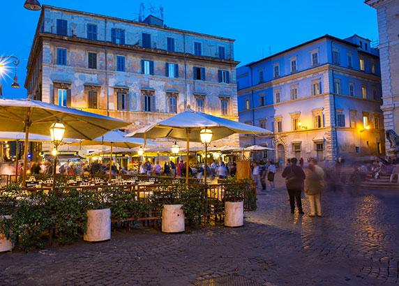 De gezellige eettentjes in Rome